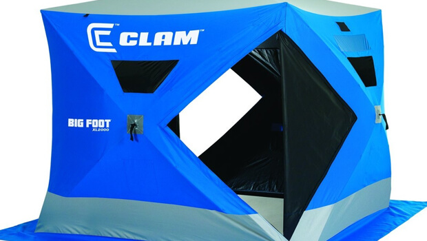 Review of the Clam Big Foot ice fishing shelter