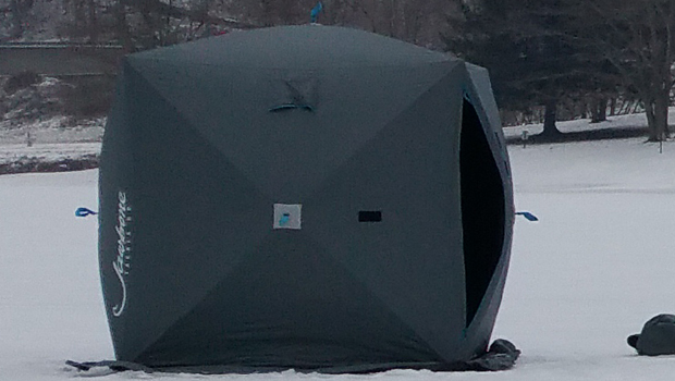 Review of the Jawbone Shield Hub Shelter – Ice Fishing Reviews