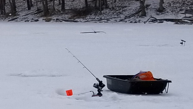 ice fishing sled